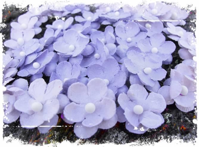 Bilde av Søte blomster, vintage lilla