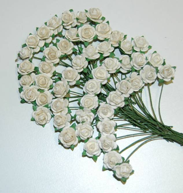 Bilde av Nr 33, Roser 1,0 cm, Hvit og