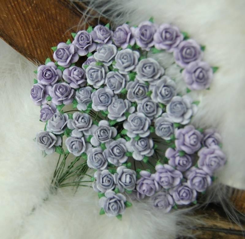 Bilde av Roser 1,2 Lys vintage lilla (6)